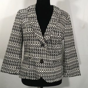 CaBi DuJour Black and White Blazer Jacket